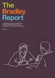 Download the Bradley Report - Royal College of Psychiatrists