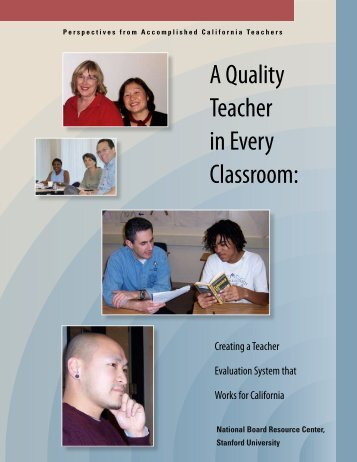 A Quality Teacher in Every Classroom: - National Board Resource ...