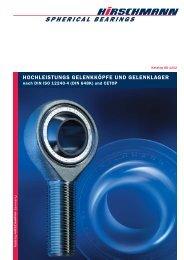 SPHERICAL BEARINGS - Hirschmann GmbH