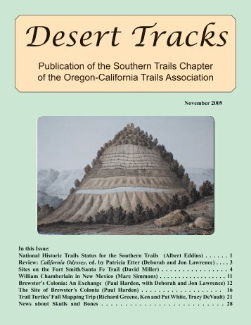 Desert Tracks - Southern Trails Chapter