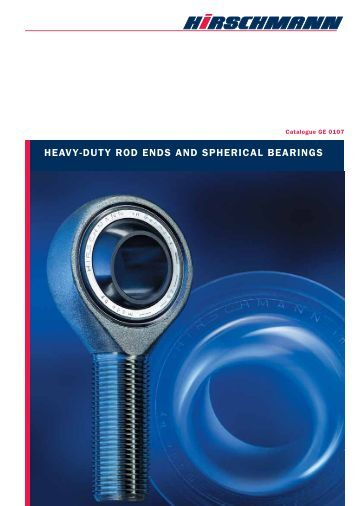 heavy-duty rod ends and spherical bearings - Hirschmann GmbH