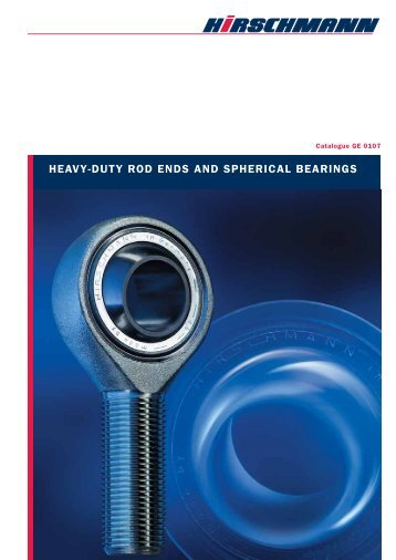 heavy-duty rod ends and spherical bearings - Hirschmann GmbH