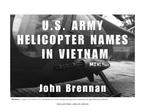 US Army helicopter names in Vietnam - Hellgate Press