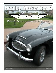 Monthly Newsletter - Austin-Healey Association of Southern California