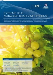 extreme heat: managing grapevine response - Melbourne School of ...