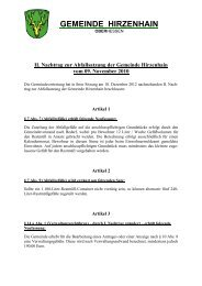 Abfallsatzung 2. Nachtrag - Gemeinde Hirzenhain