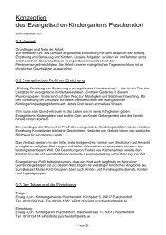 Konzeption des Evangelischen Kindergartens ... - HISKIA eV