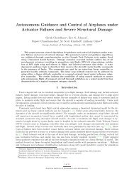 Autonomous Guidance and Control of Airplanes under Actuator - MIT