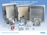 "Fire and Smoke dampers – case of ""Better safe than sorry""?"