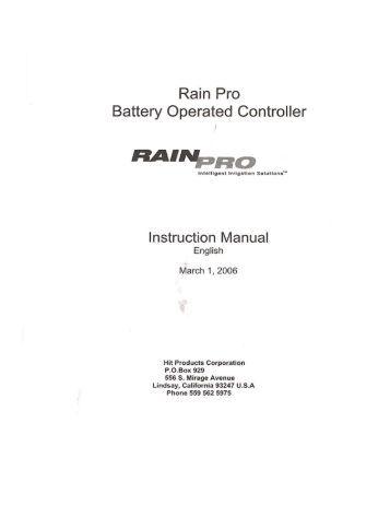 rain bird esp tm manual