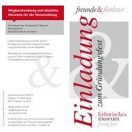 Einladung zum Gründungsfest - Historisches Museum Frankfurt ...