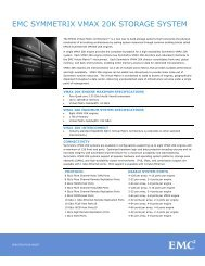 EMC Symmetrix VMAX 20K Storage System