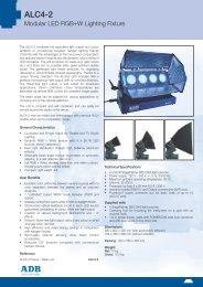 alc4-2 data sheet - ADB Lighting Technologies