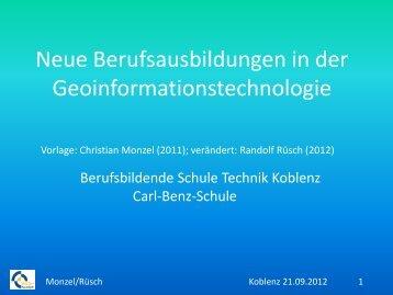 Neue Berufsausbildungen in der Geoinformationstechnologie