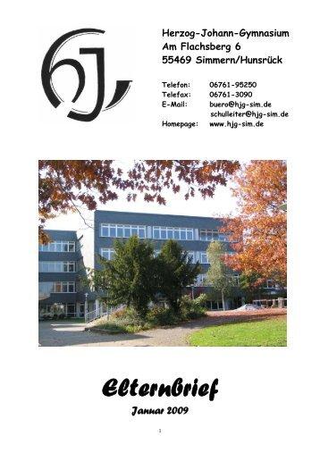 Elternbrief - Herzog-Johann-Gymnasium