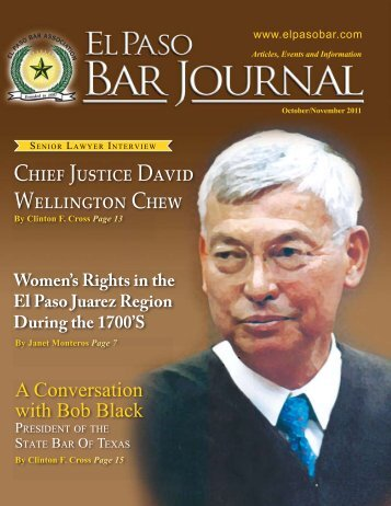 Oct/Nov 2011 - El Paso Bar Association