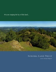 2005 Annual Report - 1.4MB PDF - Sonoma Land Trust