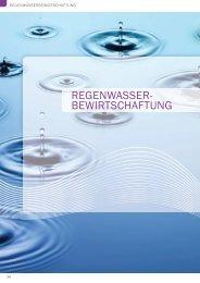 REGENWASSER- BEWIRTSCHAFTUNG