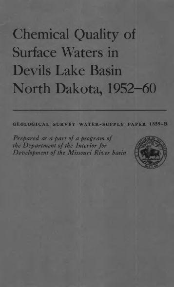 Chemical Quality of Surface Waters in Devils Lake Basin North ...