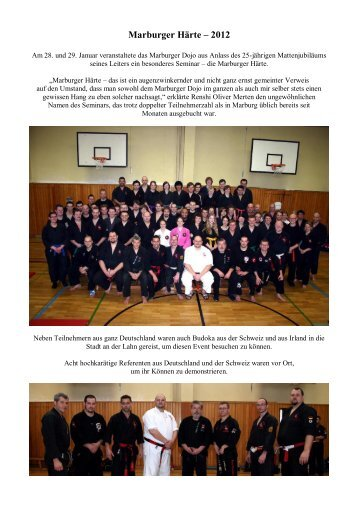 Judo und Jiu-Jitsu in Marburg - Kampfkunst-Marburg