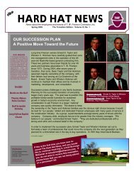 Spring 2005 Newsletter - TW Frierson Contractor, Inc.