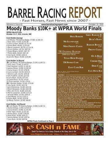 Moody Banks $10K+ at WPRA World Finals - Barrel Racing Report