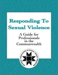 Comprehensive Guide for Responding to Sexual Violence