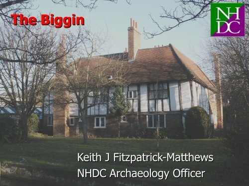 The buildings of Hitchin: the Biggin