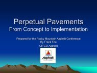 Perpetual Pavements From Concept to Implementation - Rocky ...