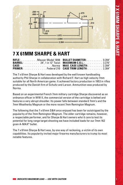 7 X 61MM SHARPE & HART - Hornady com