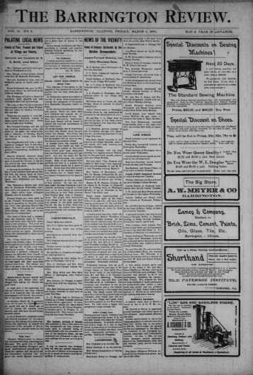 palatine local news news of the vicinity - Barrington Area Library