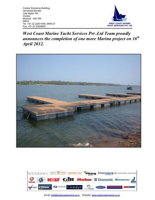 West Coast Marine Yacht Services Pvt  Ltd Team proudly