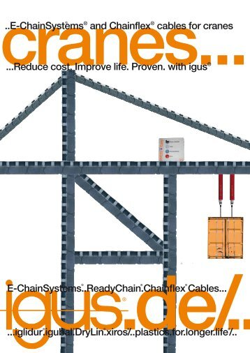 ..E-ChainSystems® and Chainflex® cables for cranes ...Reduce cost ...