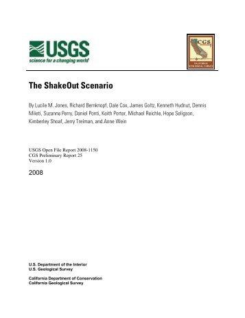 ShakeOut Scenario - the USGS