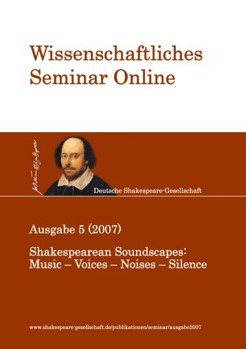 (2007) - Shakespearean Soundscapes: Music – Voices