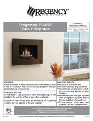 Sunrise™ P33SE - Regency Fireplace Products