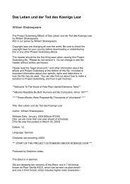 Das Leben und der Tod des Koenigs Lear