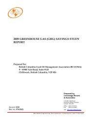 2009 Greenhouse Gas Savings Study Report - Alberta Used Oil ...
