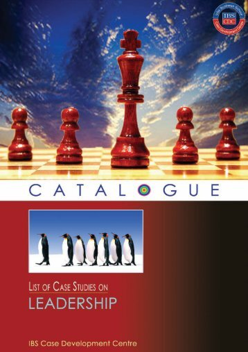 Leadership Case Studies Catalogue