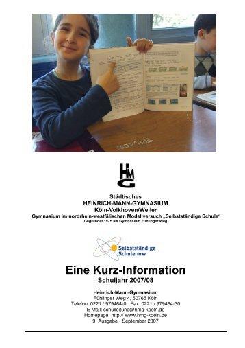 Eine Kurz Information Eine Kurz Information - Heinrich Mann ...