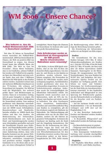 WM 2006 – Unsere Chance? - Heinrich Mann Gymnasium