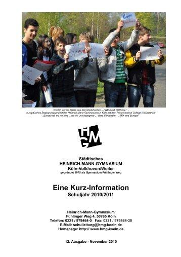 Eine Kurz-Information - Heinrich Mann Gymnasium