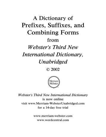 prefix root suffix list pdf