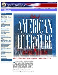 Outline of American Literature - Embassy of the United States ...