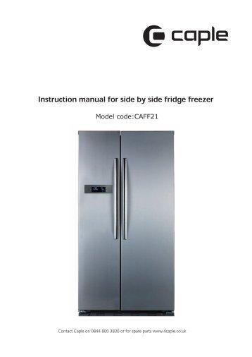 instruction manual for frost free fridge freezer caple rh yumpu com Energy Guide Dishwasher Energy Guide Label