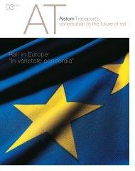 """Rail in Europe: """"In varietate concordia"""" - Alstom"""