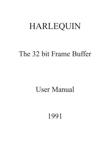 HARLEQUIN - Amiga Hardware Database