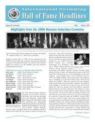 Hall of Fame Headlines - International Swimming Hall of Fame