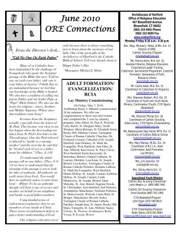 June Newsletter.pub - Office of Religious Education