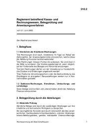310.2 Reglement betreffend Kassa- und Rechnungswesen ...